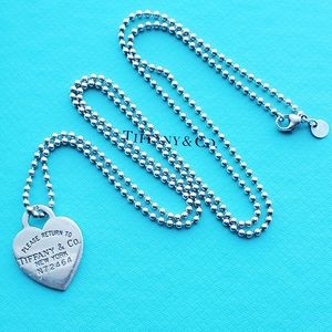 """34"""" long heart tag pendant necklace"""